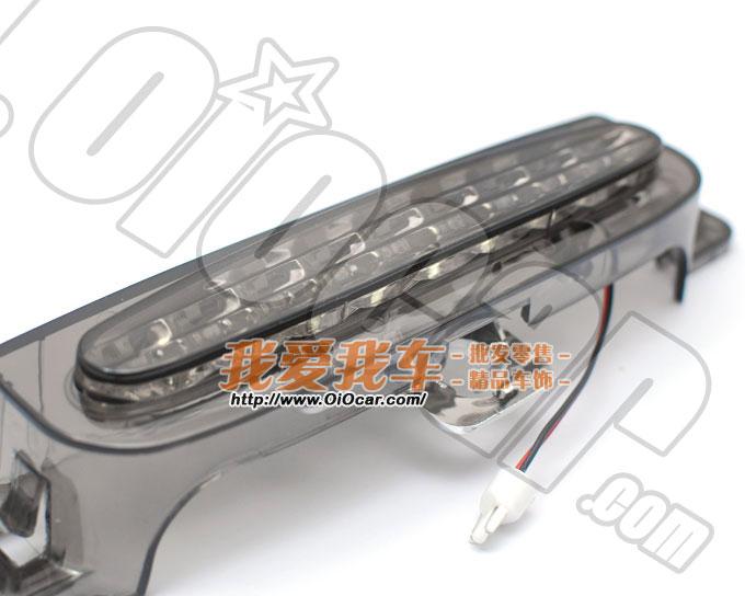 马自达3 熏黑款高亮度9灯头LED尾厢第三刹车灯改装套件 MAZDA3 4高清图片
